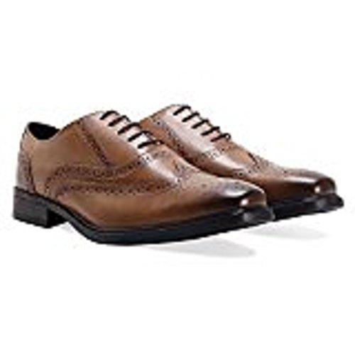 Hommes de cuir bruni Marron Oxford Chaussures richelieu