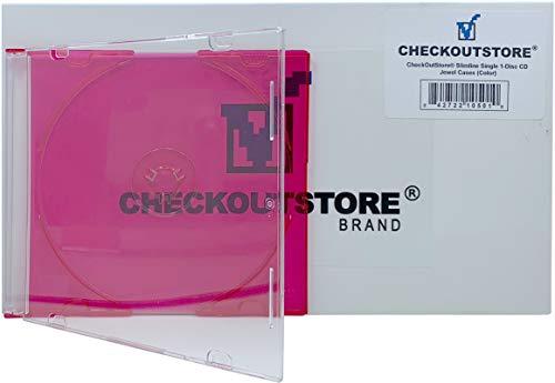 Red Dvd Color Single Slim (CheckOutStore (100 Slimline Single 1-Disc Color CD Jewel Cases (Red))