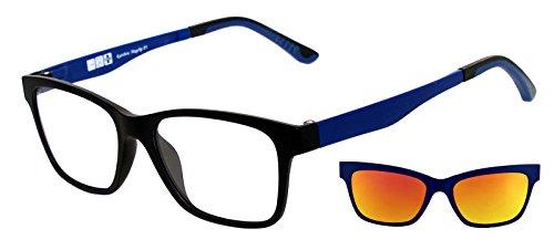 de RMCBL con MagClip® Sol Rainbow Polarizado de RMCG Gafas Red Sol Montura Magnético Gris Polarizados RMCBL Gafas Clip Clip de aIn1w