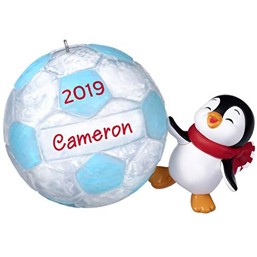 Keepsake Christmas 2019 Year Dated Soccer Star Penguin DIY Personalized Ornament (Penguin Soccer)