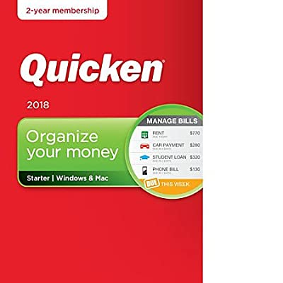 Quicken Starter 2018 Release – 24-Month Personal Finance & Budgeting Membership