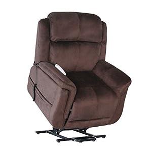 Serta Perfect Lift Chair - Full Lay Flat Recliner - Model 872-Fusion - Full Factory Warranty, Color Wellspring Walnut