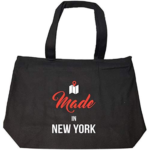 Made In New York County Funny Gift - Tote Bag With Zip