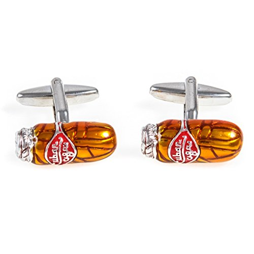 MRCUFF Cigar Pair Cufflinks in a Presentation Gift Box & Polishing Cloth