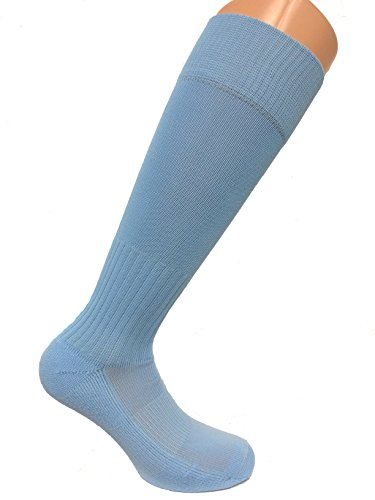 SOC COM Poly Pro Soccer Socks, Sky Blue, Medium - SOC0189