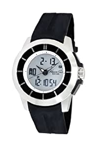 Kenneth Cole KC1849 - Reloj digital de cuarzo para hombre con correa de silicona, color negro: Kenneth Cole: Amazon.es: Relojes
