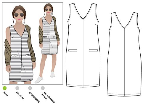 (Style Arc Sewing Pattern - Sia Knit Dress (Sizes 04-16) - Click for Other Sizes Available)