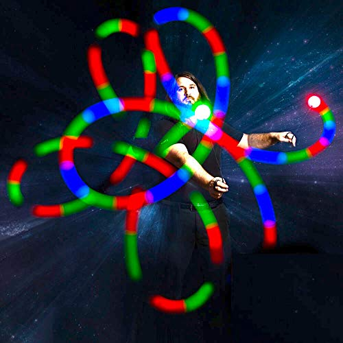Led Poi Spin Lights Pair in US - 9