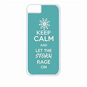 Keep Calm and Let The Storm Rage On - Blue- Hard White Plastic Snap - On Case-Apple Iphone 4 - 4s - Great Quality!