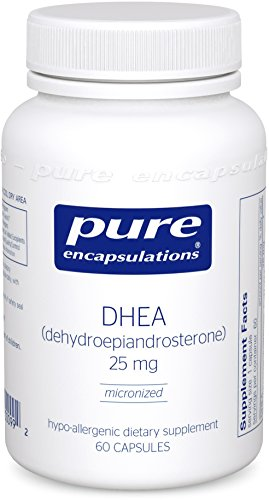 Pure Encapsulations – DHEA (Dehydroepiandrosterone) 25 mg – Micronized Hypoallergenic Supplement – 60 Capsules
