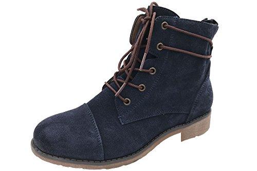 BLACK Damen 261 078 Chukka Boots Blau (NAVY LEA)