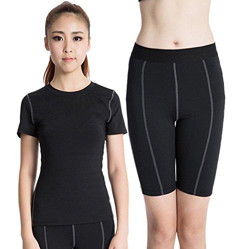 Liveinu Women's Powertrain T-Shirt and Short Black XL