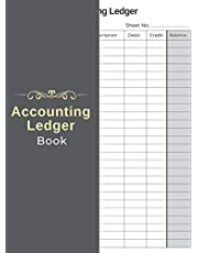 Accounting Ledger Book: A4 Book Size 120 Blank Accounting Ledger Pages Easier Ledger Account Recording More for Simple Bookkeeping Beginners and Small Business Help The Accountant Record Ledger Transactions More Convenient