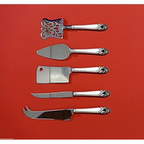 Spring Glory By International Sterling Silver Fruit Cheese Set 5pc Custom