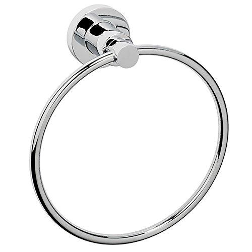 Dynasty Hardware DYN-4011-CM Manhattan 6-1/2-Inch Diameter Towel Ring, Polished Chrome - Manhattan Towel Ring