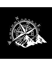 Buding Kompass av väg sport spår klistermärken bil klistermärken berg kompass navigation bilklistermärken kompass dörrklistermärken gruva huv bil klistermärken för bil eller motorcykel 50 x 60 cm