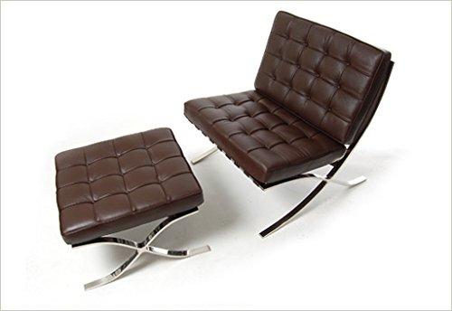 (Modern Living Knoll Barcelona chair and ottoman set Mutli-colors (dark brown))