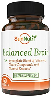Balanced Brain-Mental Performance Nootropic Supports Clarity, Cognitive Health, Focus, Concentration, Memory Retention-An Optimum Blend of Vitamins, St. John's Wort, DMAE, Huperzine, Bacopa monnieri