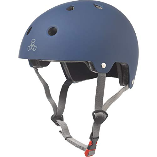 Triple Eight Dual Certified Bike and Skateboard Helmet, Blue Matte, Large / X-Large