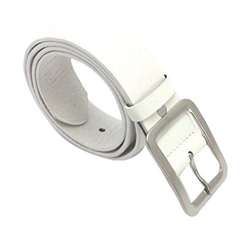 Rukiwa Men's Casual Clasic Stylish Faux Leather Belt Buckle Waist Strap Belts ()