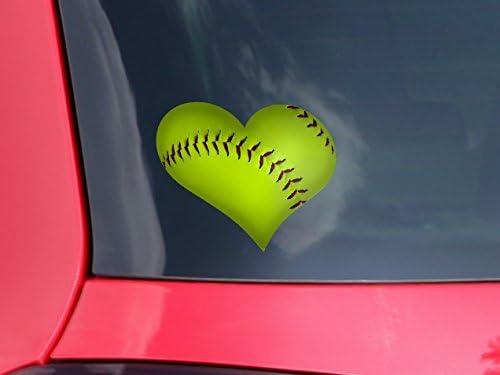 "Baseball Heartbeat Window Decal Sticker 6.5/"" x 2.8/"""