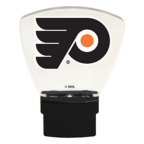 Authentic Street Signs NHL Officially Licensed-LED NIGHT LIGHT-Super Energy Efficient-Prime Power Saving 0.5 watt, Plug In-Great Sports Fan gift for Adults-Babies-Kids Room … (Philadelphia Flyers)