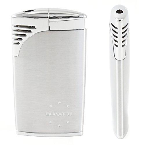 Bugatti Bl-320 Chrome Sattin/chrome Velour Traditional Flame Cigar Lighter