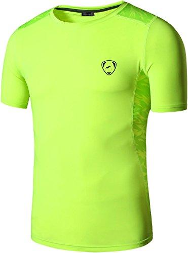 jeansian Uomo Asciugatura Rapida Sportivo Casuale Slim Sports Fashion Maglietta Tee Shirt Tshirt T-Shirts LSL020 2 spesavip