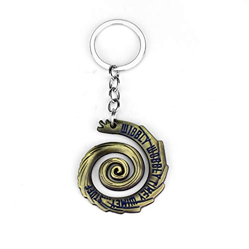 NTNH12 Doctor Who Inspired Spiral Fob Wobbly Timey Wimey Key Fashion Gift Antique Bronze
