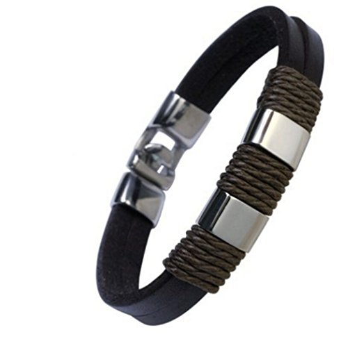 [Most Beloved Men Leather Bracelet Brown Handmade Bracelets Rope] (Homemade Hippie Costumes Ideas For Women)