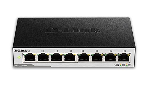 D-Link 8-Port EasySmart Gigabit Ethernet Switch (DGS-1100-08)