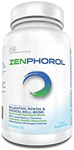 #1 FORMULA Zenphorol® Stress and Anxiety Relief | Reduces Symptoms of Depression and Panic Attacks. Boost Mood, Aid Restful Sleep, Promotes Physical and Mental Well-Being | 1530mg