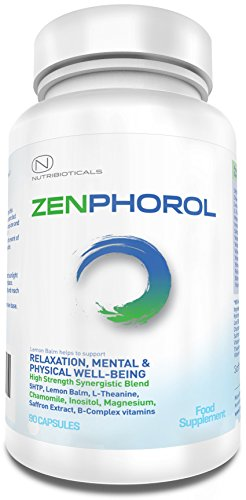 41JfelQ5OSL - #1 FORMULA Zenphorol® Stress and Anxiety Relief | Reduces Symptoms of Depression and Panic Attacks. Boost Mood, Aid Restful Sleep, Promotes Physical and Mental Well-Being | 1530mg