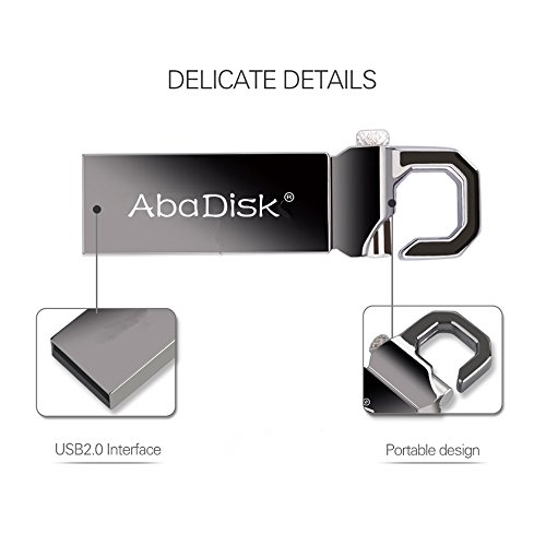 AbaDisk Waterproof Metal Mini Key Chain USB Flash Drive 2.0