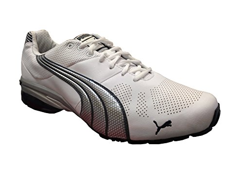 New Puma Men's Cell Hiro TLS Running Shoe White/Silver 8 - New Puma Cell