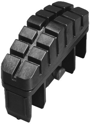 Hailo 9910-001 - Pack de 2 tacos antideslizantes con superficie total de apoyo para largueros de escalera de 72 x 25 mm