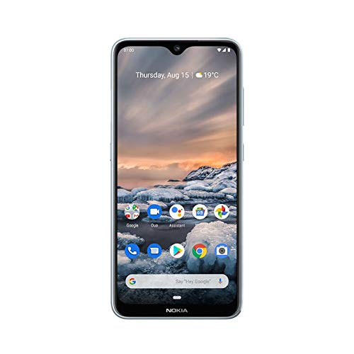 NOKIA 7.2 Android Smartphone, 6GB RAM, 128GB Memory, 6.3 FHD+ Screen, 48MP Triple Camera ZEISS Optics - Ice