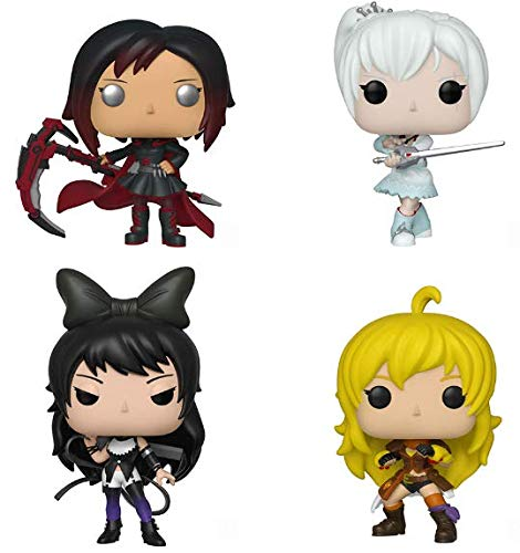 RWBY POP! Animation Ruby Rose, Weiss Schnee, Blake Belladonna, and Yang Xiao Long Vinyl Figures Set