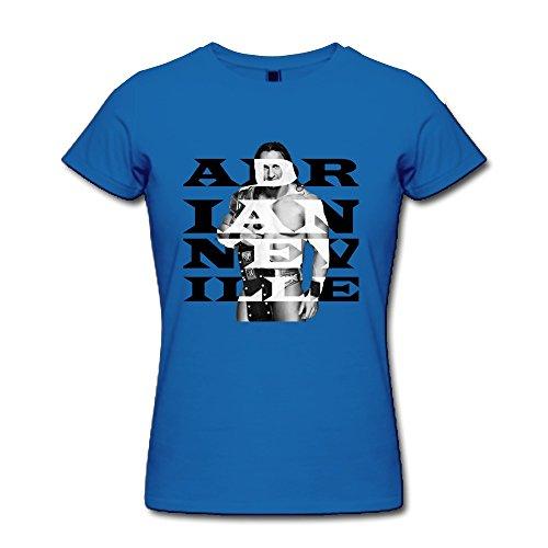 AOPO WWE Adrian Neville T Shirt For Women X-Small RoyalBlue