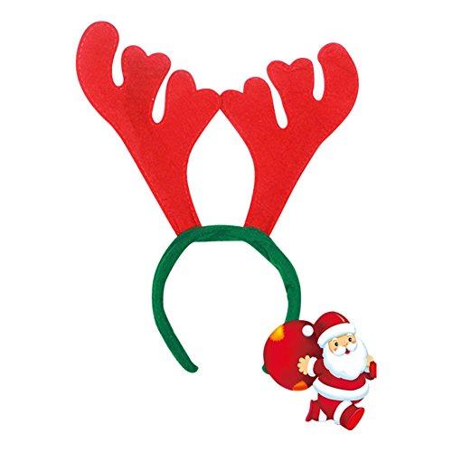 EITC Reindeer Antlers Headband Santa Reindeer Horn Costume Headband Hat Christmas Event Party Cap One Size Fits (Raindeer Hats)