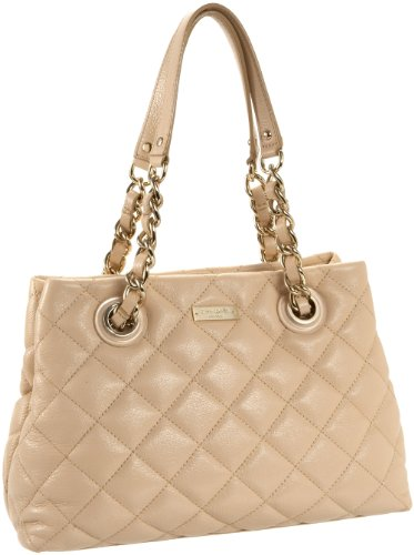 Kate Spade Gold Coast Shimmer Small Maryanne Tote,Cashew,one size, Bags Central
