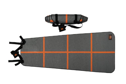 YogaForce A-Line Exercise Mat (Gray/Orange) by YogaForce