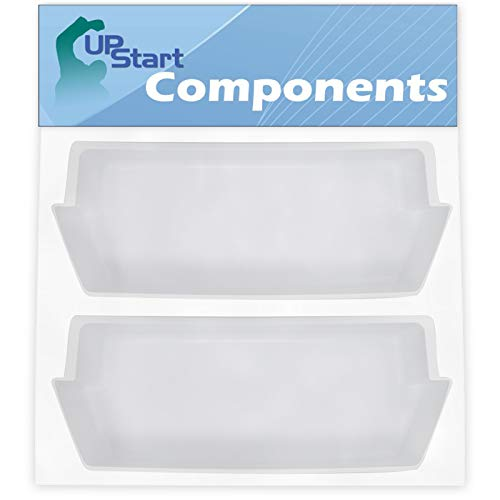 2-Pack 2187172 Refrigerator Door Bin Replacement for Roper RS25AGXNQ01 Refrigerator - Compatible with WP2187172 Deep Shelf - UpStart Components Brand