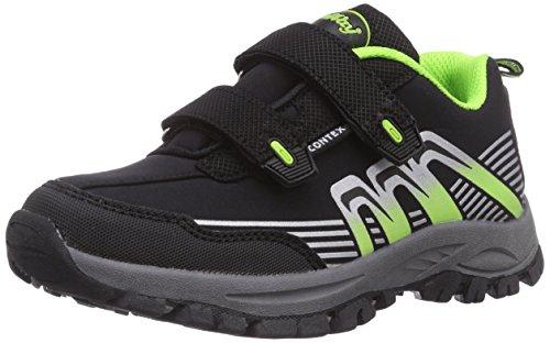Conway 150427, Jungen Outdoor Fitnessschuhe, Schwarz (black/green), 33 EU
