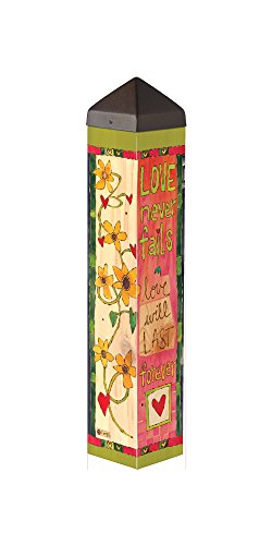 Studio M PL1093 Love Never Fails Garden Art Pole (Love Pole)