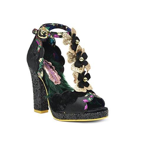 Irregular Choice Suede Heels - Irregular Choice Women's Montee Carlo T-Strap Platform Sandals (39)