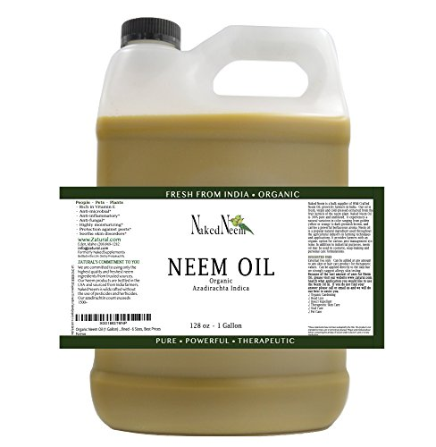 Zatural Organic Virgin Neem Oil 1 Gallon: 100% Natural Pure Cold Pressed No Additives, Unrefined Concentrate for Body and Skin, Pets, and Plants or Garden by Zatural (Image #1)