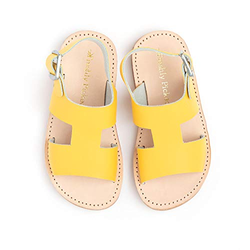 Freshly Picked - Concord Little Girl Boy Leather Sandals - Size 7 Yellow