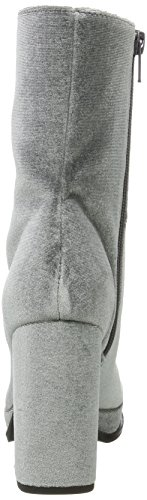 Boots Grey Gris 17 Bianco Plateau Femme Bottines dark 56ABxw