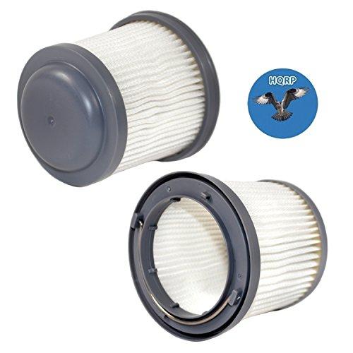 HQRP 2-Pack Washable Filter for Black & Decker HFVB320J27, HFVB315J22 DUSTBUSTER Lithium Flex Hand Vacuum PVF110 Coaster by HQRP